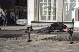 Homeless Bench // Inverness, Scotland
