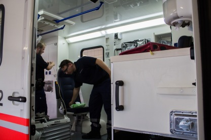 Remove the Trace - After the patient is transferred to the hospital they need to immediately clean their ambulance