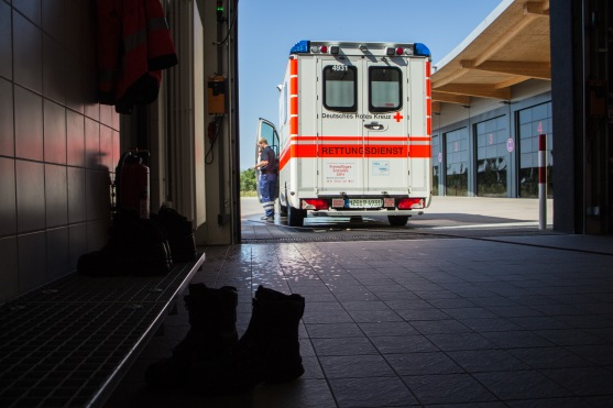 Back to the station - As long as the paramedics don't get any new call, they mostly return to the station or drive around