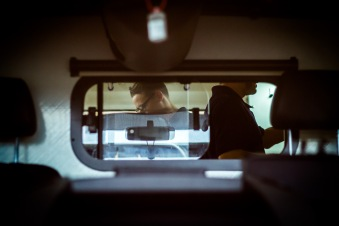 A small Window - The Paramedic Team never loose contact with the patient