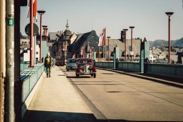 Die Brücke, die die Ortsteile Traben und Trarbach verbindet