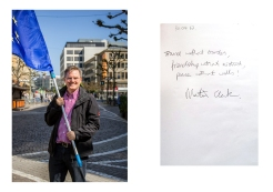 Martin sees in Europe Freedom, Friendship and Peace. Frankfurt // Pulse of Europe 30.04.17