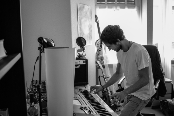 When the first chord hits the keys he is in his own world and you can't disturb him.