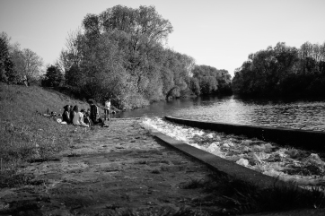 A little journey with friends to the river just outside the door.