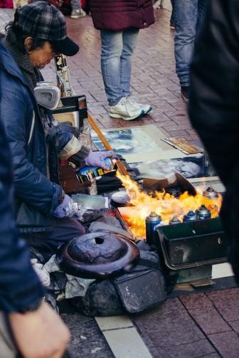 Street Artists in Dublin.
