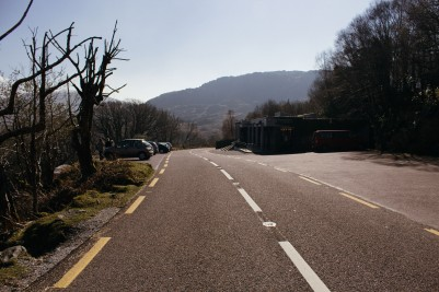 Street near Lady's View, Ring of Kerry, Irish Westcoast.