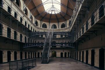 The Prison Kilmainham Gaol in Dublin.