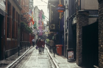 Street Scene in Dublin.
