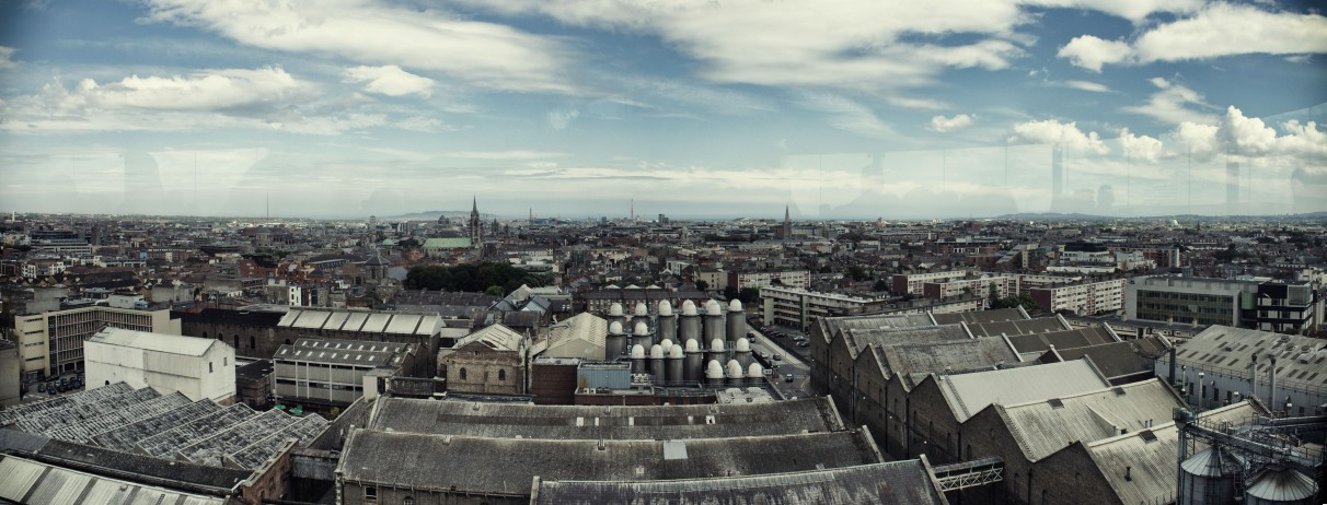 The view from the Sky Bar in the Guinness Store House.