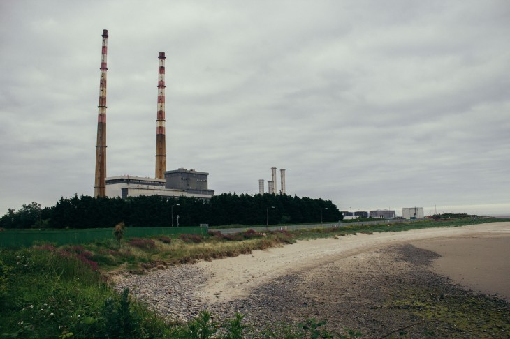 The power plant next to Dublin.