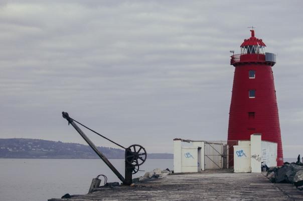 The lighthouse near Dublin.