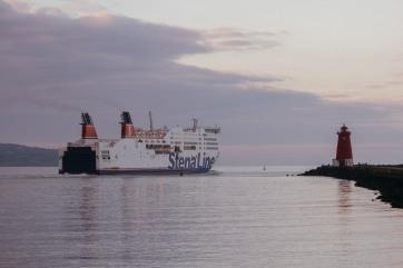 A ship sailing from Dublin.