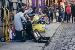 Street Musicians in Temple Bar, Dublin.