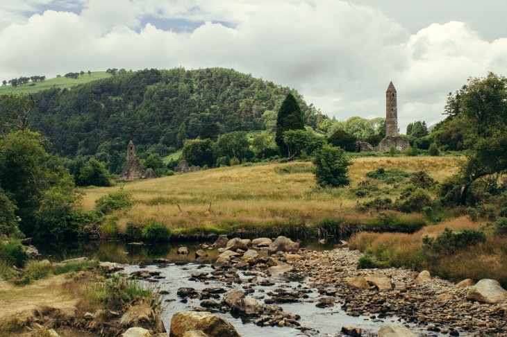Glendalough offers a stunning landscape and history.