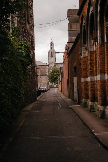 Some narrow streets in Kilkenny.