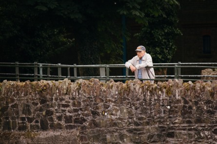 A man enjoying the View across Cork.