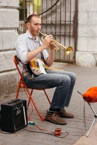 Street Musician in Cork.