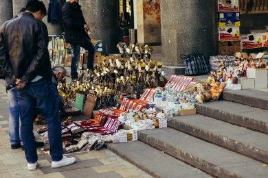 Market on the Street in Rustaweli, Tbilisi
