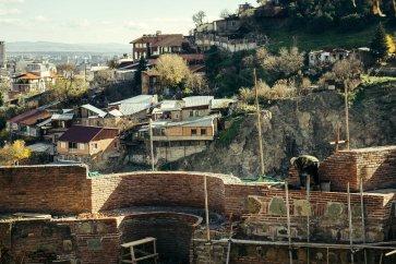 View from Narikala Fortress, Sololaki, Tbilisi